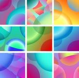 Hintergrundzusammenfassungsglühen-Designsatz Stockfotografie