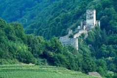 Hinterhaus-Schloss, Wachau, Österreich Lizenzfreie Stockfotos