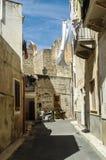 Hinterhof bei Sizilien Stockfotografie