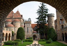 Hinterhof des Schlosses Bory Lizenzfreies Stockfoto