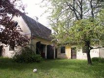 Hinterhof mit Kugel Stockbilder