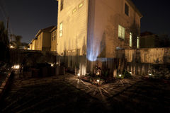 Hinterhof nachts Lizenzfreies Stockfoto