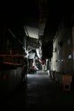 Hinterhof von Bangkok nachts Stockfotos