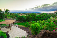 Hinterhofansicht in Hawaii Stockfoto