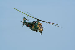 HinterHubschrauberangriff Mi-24 Lizenzfreies Stockbild