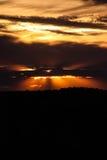 Hinterland-Sonnenuntergang Lizenzfreies Stockfoto