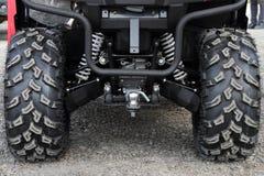 Hinterräder und eine Koppelung des ATV lizenzfreies stockfoto