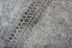 Hinterreifen auf Eis lizenzfreies stockfoto