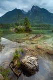 Hintersee, bei Berchtesgaden, Germania di Ramsau Immagine Stock