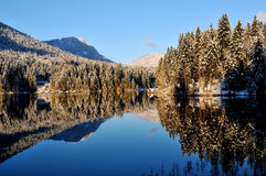 Hintersee on clear winterday Stock Photos