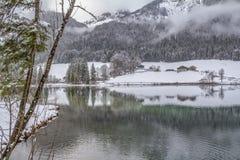 Hintersee en invierno imágenes de archivo libres de regalías
