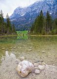 Hintersee lake in Alps, Germany Royalty Free Stock Photos