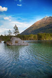 Hintersee lake in Alps, Germany Stock Photo