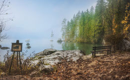 The Hintersee is a mountain lake in the Berchtesgaden National Park. Royalty Free Stock Image