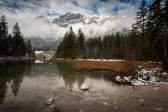 Hintersee sjö, Berchtesgaden nationalpark royaltyfri bild