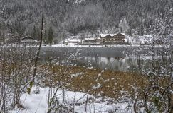 Hintersee at winter time stock image
