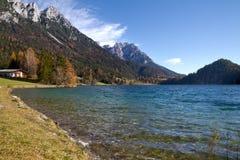 Hinterstein Lake in Tyrol, Austria Stock Image