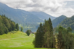 Hintersteiner See, mountain lake,  Wilder Kaiser, Tirol, austria Royalty Free Stock Image
