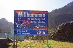 HINTERSTODER AUSTRIA, Luty, - 22, 2016: Odliczanie Austr Fotografia Stock