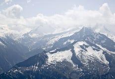 从Hintertux冰川的看法在奥地利山 库存图片