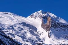 Hintertux glaciär i österrikiska fjällängar arkivbilder