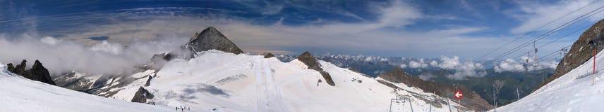 Hintertux glacier in summer Royalty Free Stock Photo