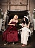 Hinterwäldler-Hochzeit Stockfoto
