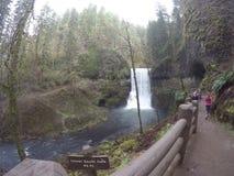 10 Hinterwasserfall Lizenzfreies Stockfoto