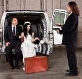 Hinterwäldler-Hochzeit Stockfotos