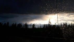 Hinton après pluie images stock