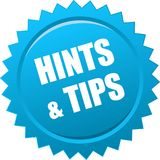 Hints and tips seal Royalty Free Stock Images