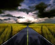 Hinunter die Straße. Lizenzfreies Stockbild