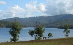 Hinze Dam. In Queensland, Australia stock image