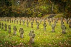 Hinzert - могилы войны Стоковое Изображение