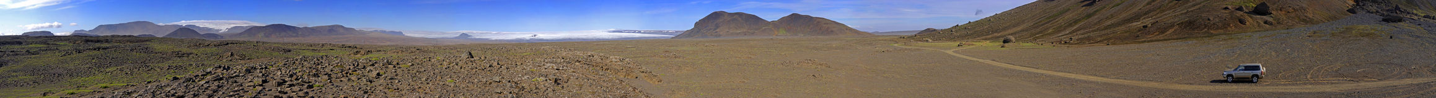 hiodufell τοπίο ηφαιστειακό στοκ εικόνα