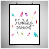 Hioliday season frame vector. For web design and application interface, also useful for infographics. Vector illustration Royalty Free Stock Photos