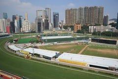 Hipódromo feliz del valle en Hong Kong Imagen de archivo libre de regalías