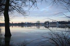 Hipódromo inundado de Pitchcroft Fotos de archivo libres de regalías