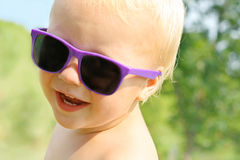 Hip Baby in Sunglasses Royalty Free Stock Photo