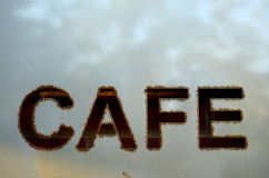 Hip Cafe Sign Stock Images