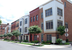 Hip City Townhouses 2 Stock Photos