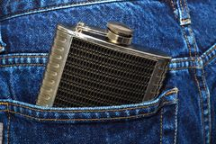 Hip flask Royalty Free Stock Image