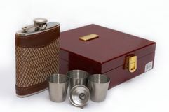 Hip flask 3 Royalty Free Stock Photography