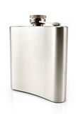 Hip flask for alcohol Stock Photography