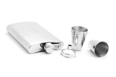Hip flask set Stock Image