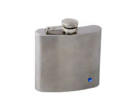 Hip-Flask on a white. This is a hip-flask on a white Royalty Free Stock Photo