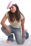 Hip Girl one Royalty Free Stock Photo