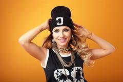 Hip hip girl in studio. royalty free stock photo