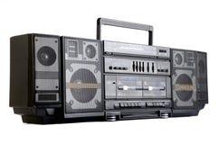 Hip Hop在白色隔绝的立体声收音机 免版税库存图片
