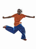 Hip Hop杂技断裂舞蹈家breakdancing的年轻人 库存照片